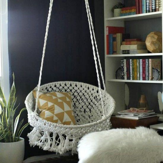 make this diy macram hanging chair for the coolest unique