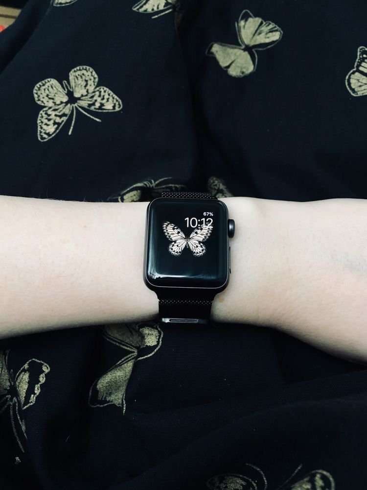 Pulseira Apple Watch Milanese Preta 38 40 42 44mm