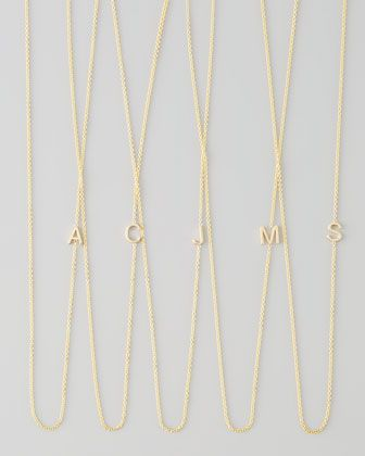 82951dc83 14k Yellow Gold Mini Letter Necklace by Maya Brenner Designs at @Neiman  Marcus