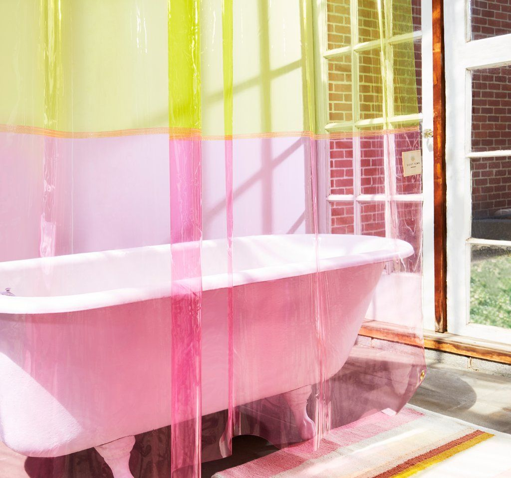 pink shower curtains