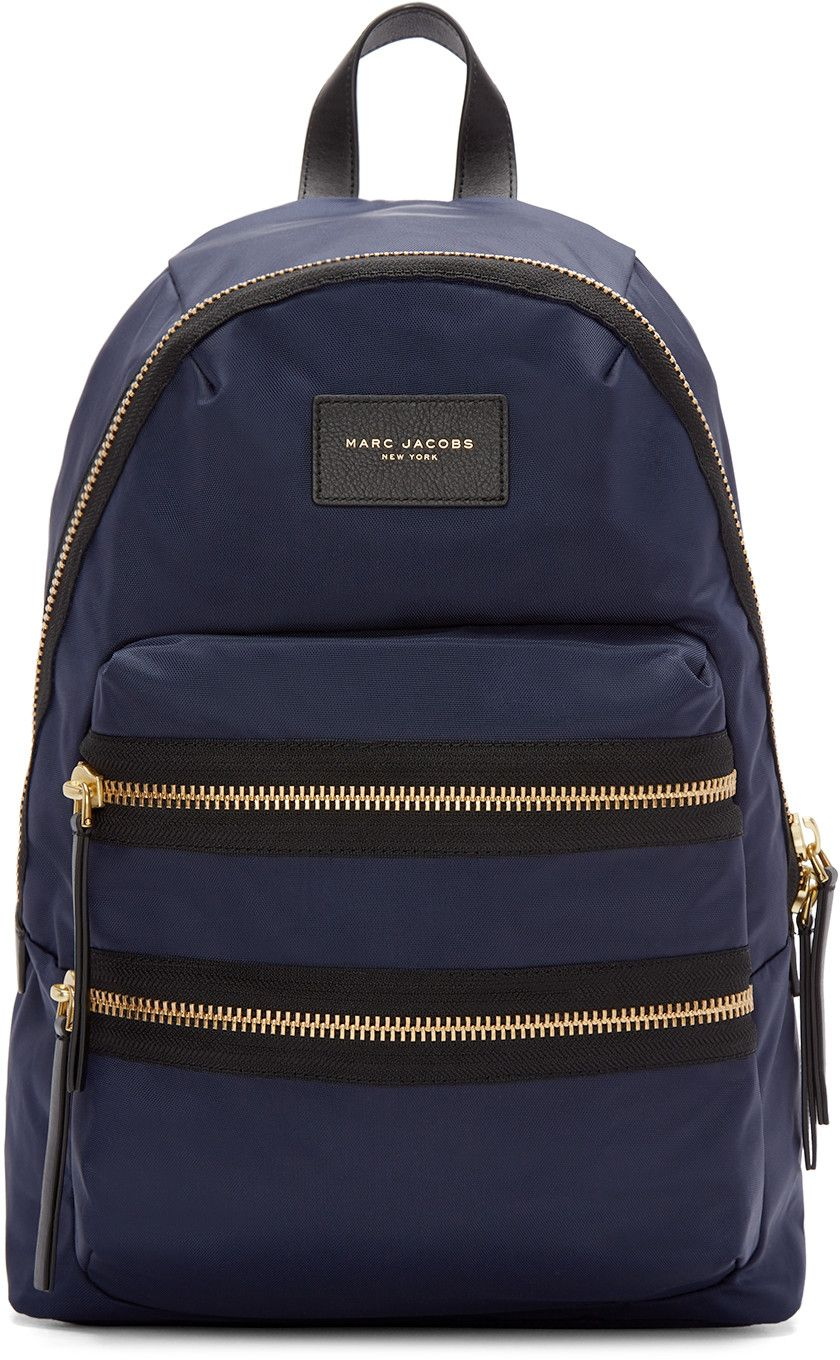8a8c59bf6b MARC JACOBS Navy Nylon Biker Backpack.  marcjacobs  bags  leather  nylon   backpacks