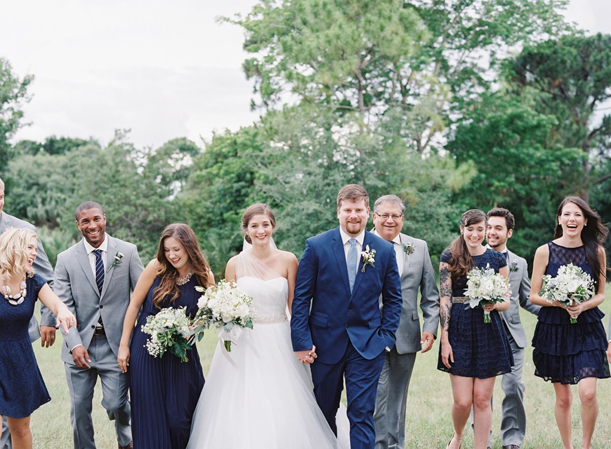 Modern Blue Wedding: Tay & Reagan in Palm Beach Gardens | Party ...