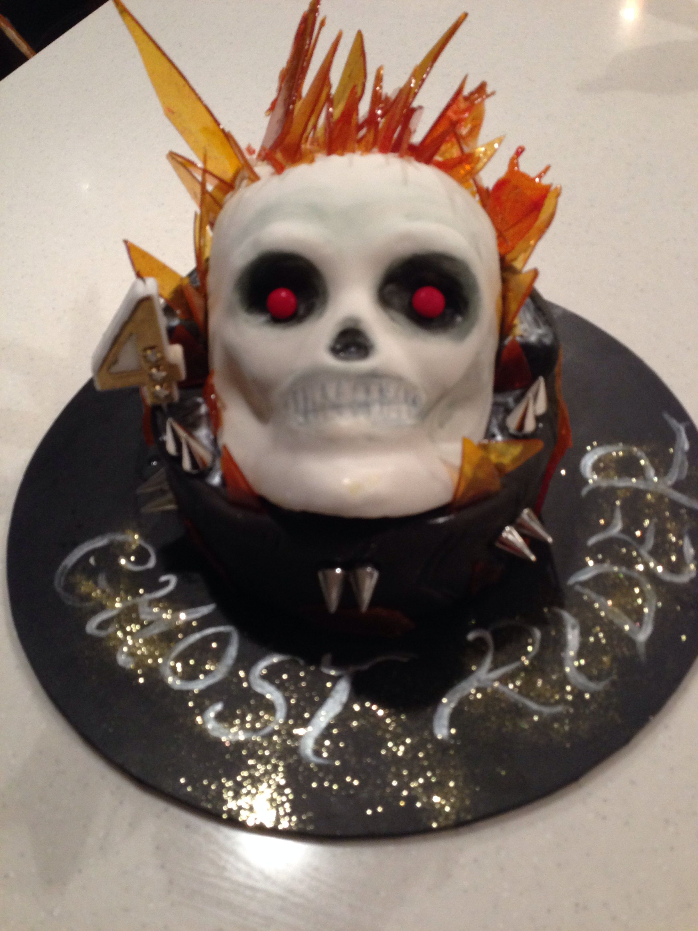 Choc mud ghost rider cake | Ghost rider | Pinterest