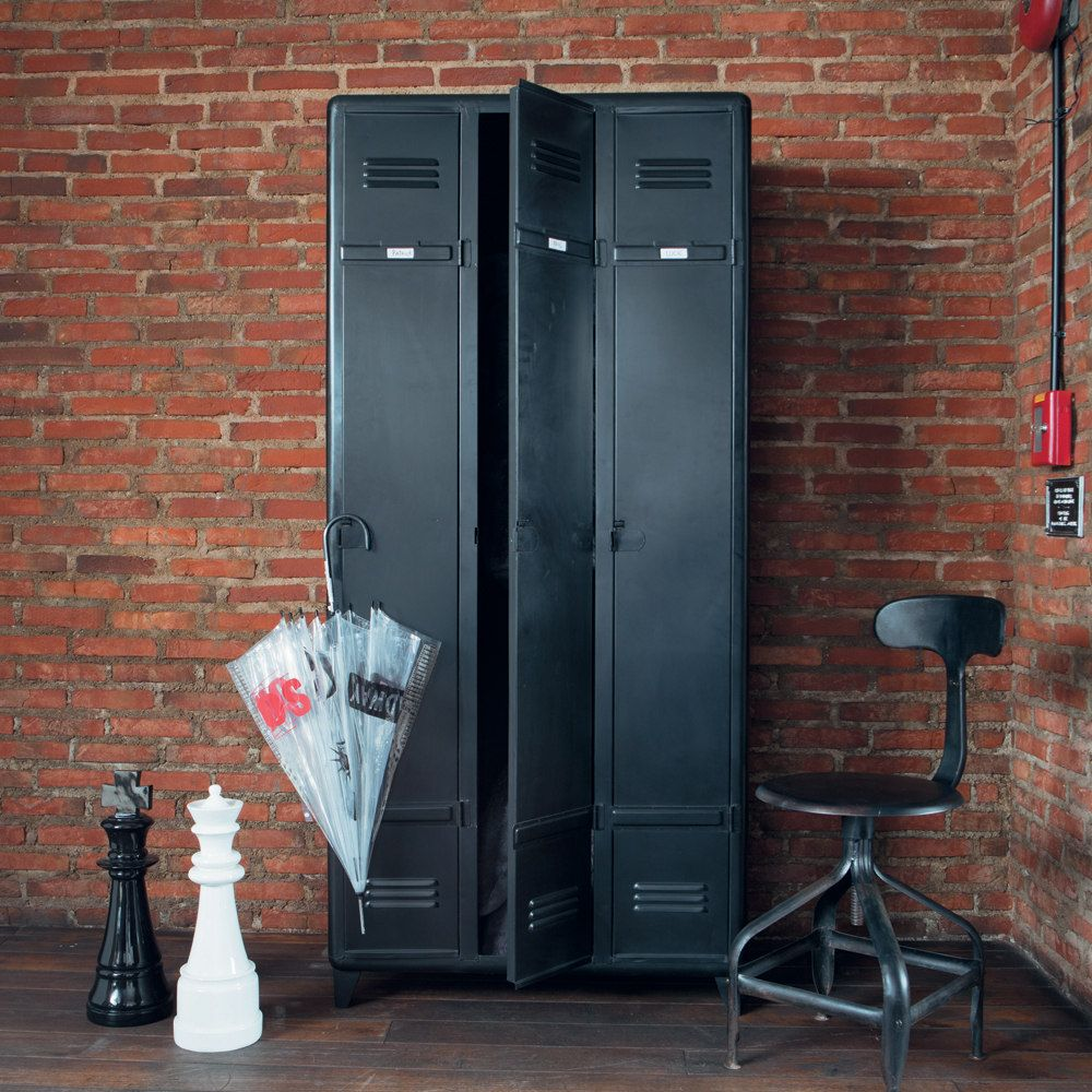 dressing vestiaire indus edison lt z szekr nyek locker furnitures pinterest maison du. Black Bedroom Furniture Sets. Home Design Ideas