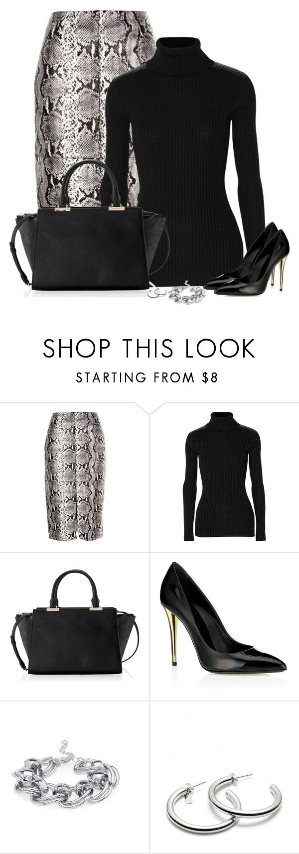 """""""Untitled #516"""" by denise-schmeltzer ❤ liked on Polyvore featuring River Island, Autumn Cashmere, Henri Bendel, Yves Saint Laurent, Forever 21 and Coach"""