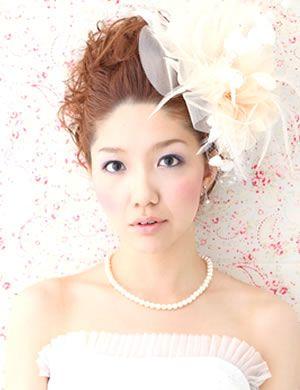 丸顔に合う / 結婚式(二次会)のお呼ばれパーティ髪型!一