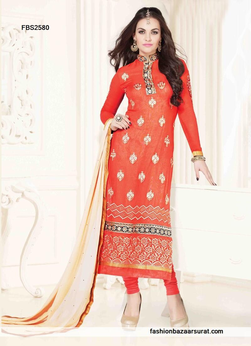 Royal red georgette straight long suit buy indian salwar suits