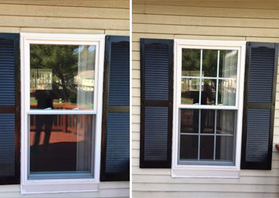 Before And After Add Window Grids On Grilles Snap In French Door Patio