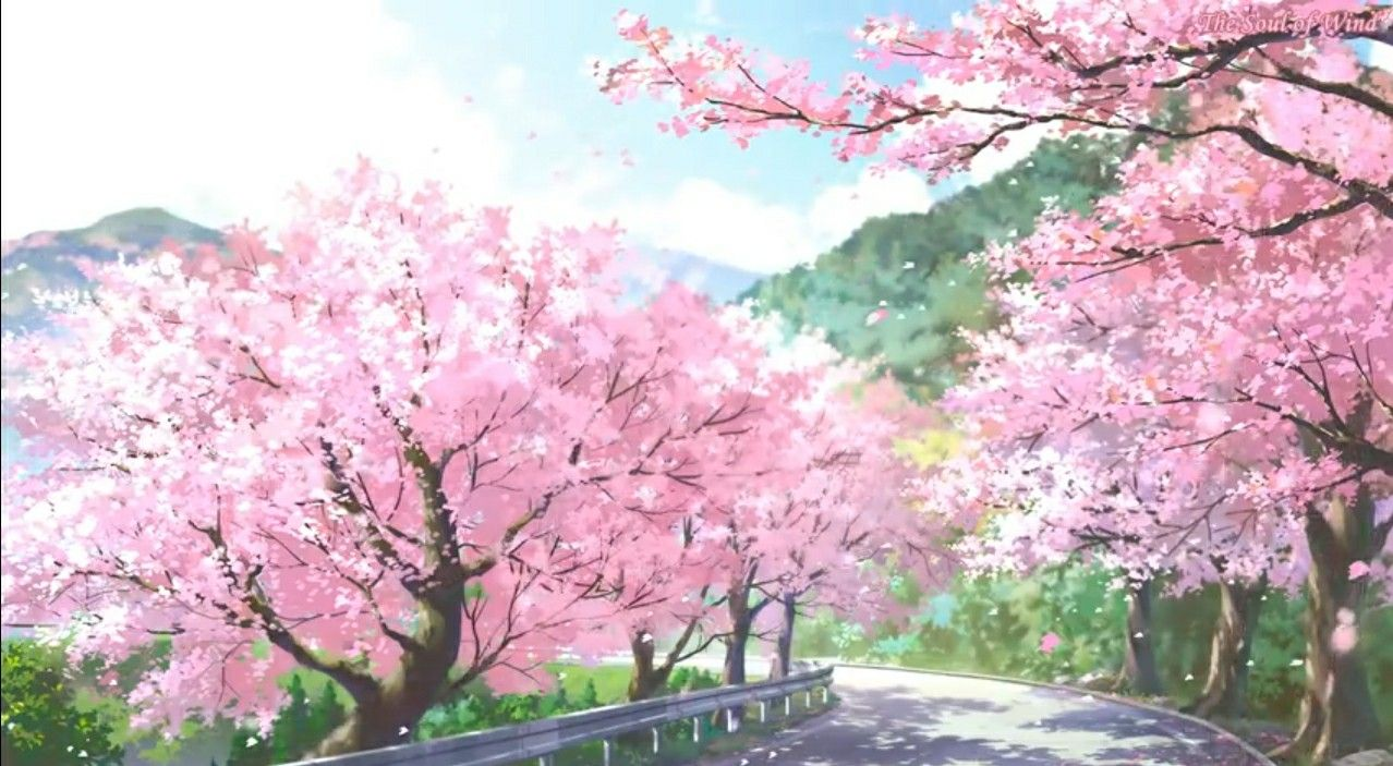 Pin By Afsana On Fantasy World Anime Scenery Spring Scenery Aesthetic Anime