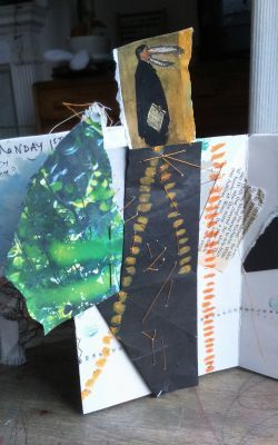 Join Us for an August Creative Challenge! Page from accordian sketchbook by Morag Thomson Merriman
