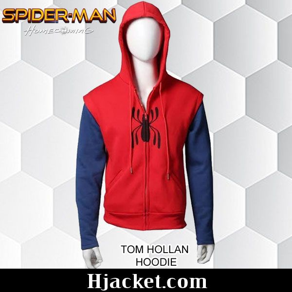 Tom Holland #SpidermanHomecoming Red Hoodie.#Fashion #OOTD #Style #Men #Jacket