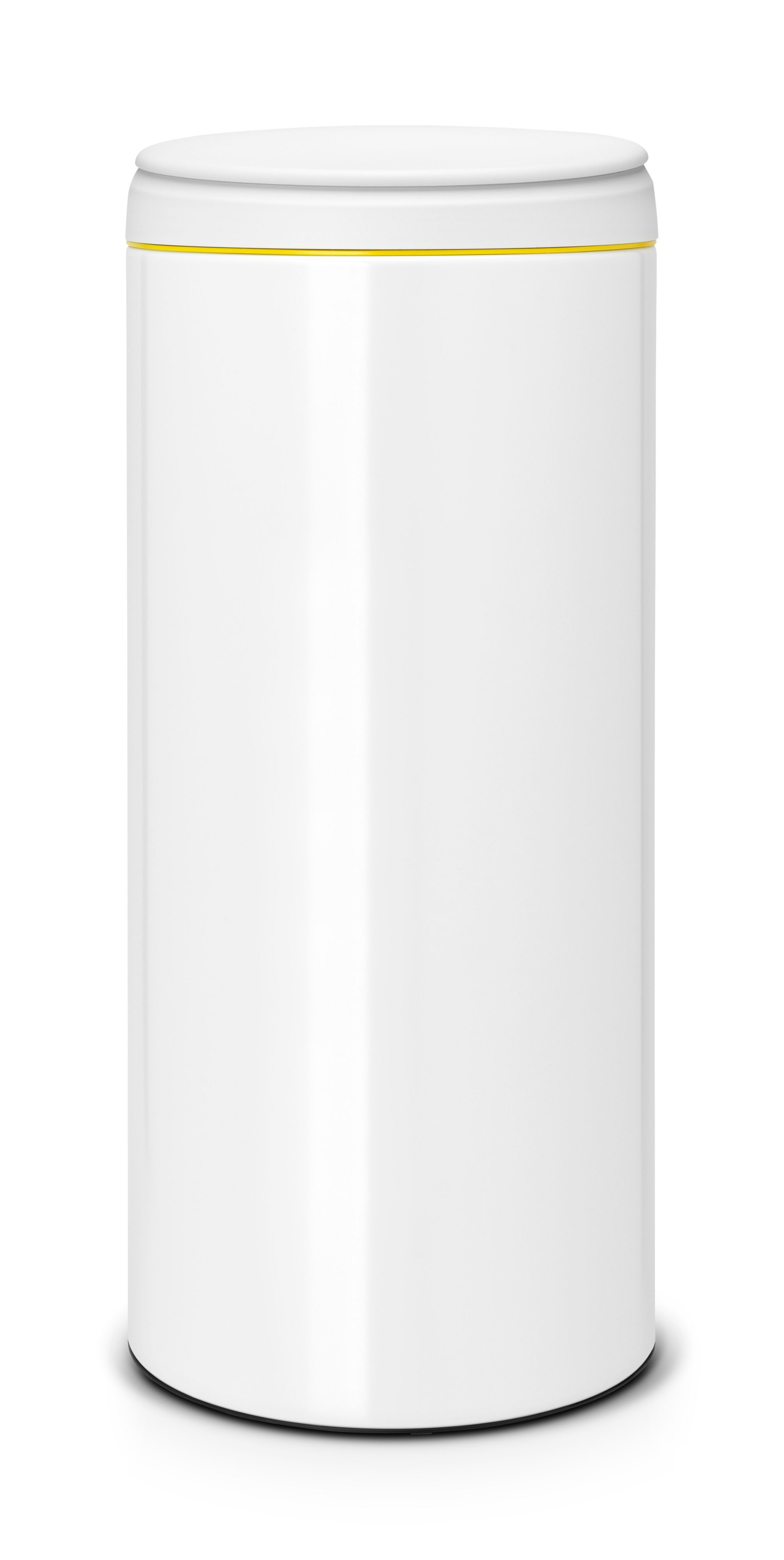 White Kitchen Bin brabantia gloss white metal round flip top kitchen bin, 30l | bins