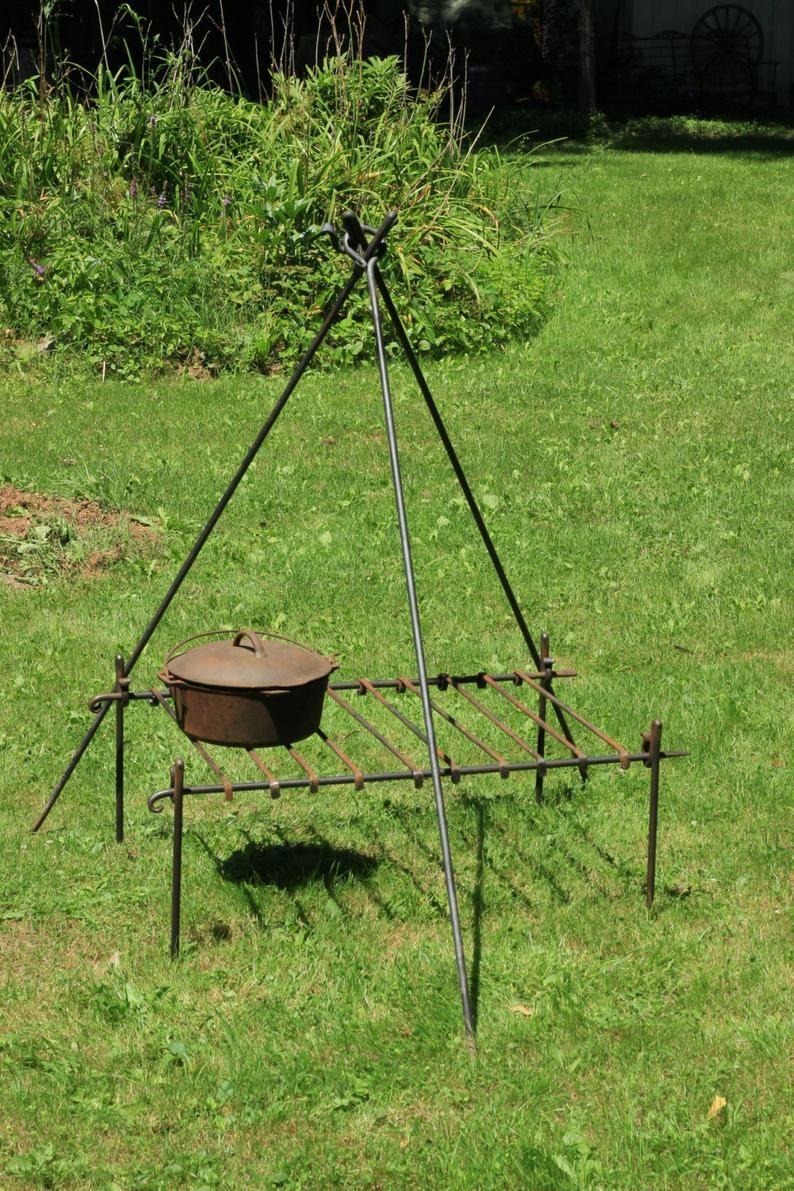 Steel TriPod Tri Pod  Dutch Oven Bushcraft Camp Cooking