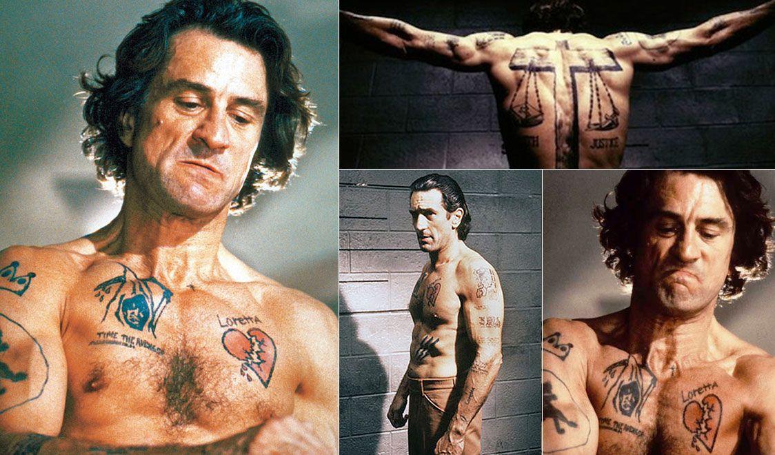 cape fear � robert de niro as max cady 1991 tattoo