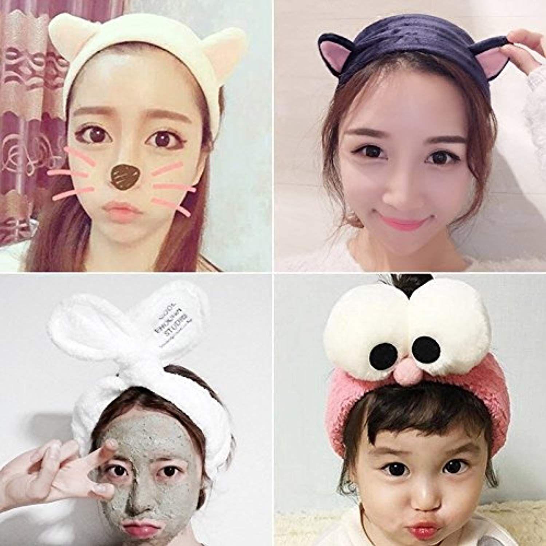 Cute Cat Cartoon Cat Ears Baby Girl Headband Soft Cotton Elastic Women Girls Makeup Face Washing Headband Hair Band 2018 New Year-End Bargain Sale Girls' Baby Clothing