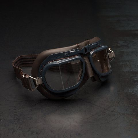 e21e08a4f2110f Halcyon Mark 8 RAF Goggles Brown Blue Motorcycle Goggles, Bike Parts, Soft  Leather,