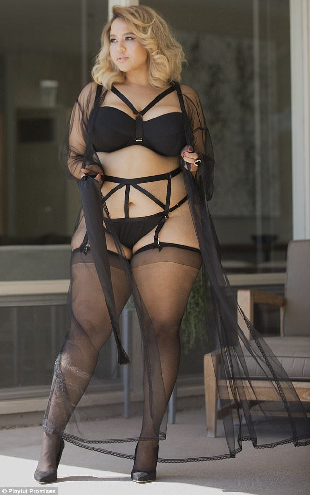 Photo shoot  Plus-size blogger Gabi Fresh (pictured) has posed in a  stunning lingerie campaign to show that people of all sizes should be able  to find fun ... 6062b0557