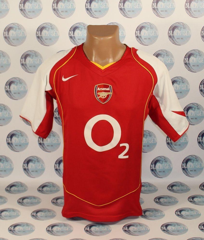 06b05d5a84c ARSENAL 2004 2005 FOOTBALL SOCCER SHIRT JERSEY TRIKOT ERA HENRY PIRES NIKE   Nike  Arsenal