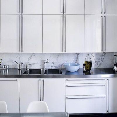 credence marbre | kitchens | Crédence cuisine, Crédence et ...