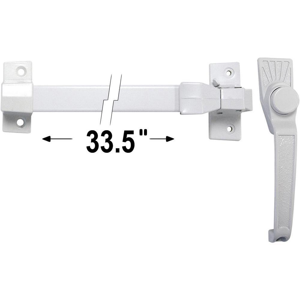 White Storm and Screen Door Push Bar