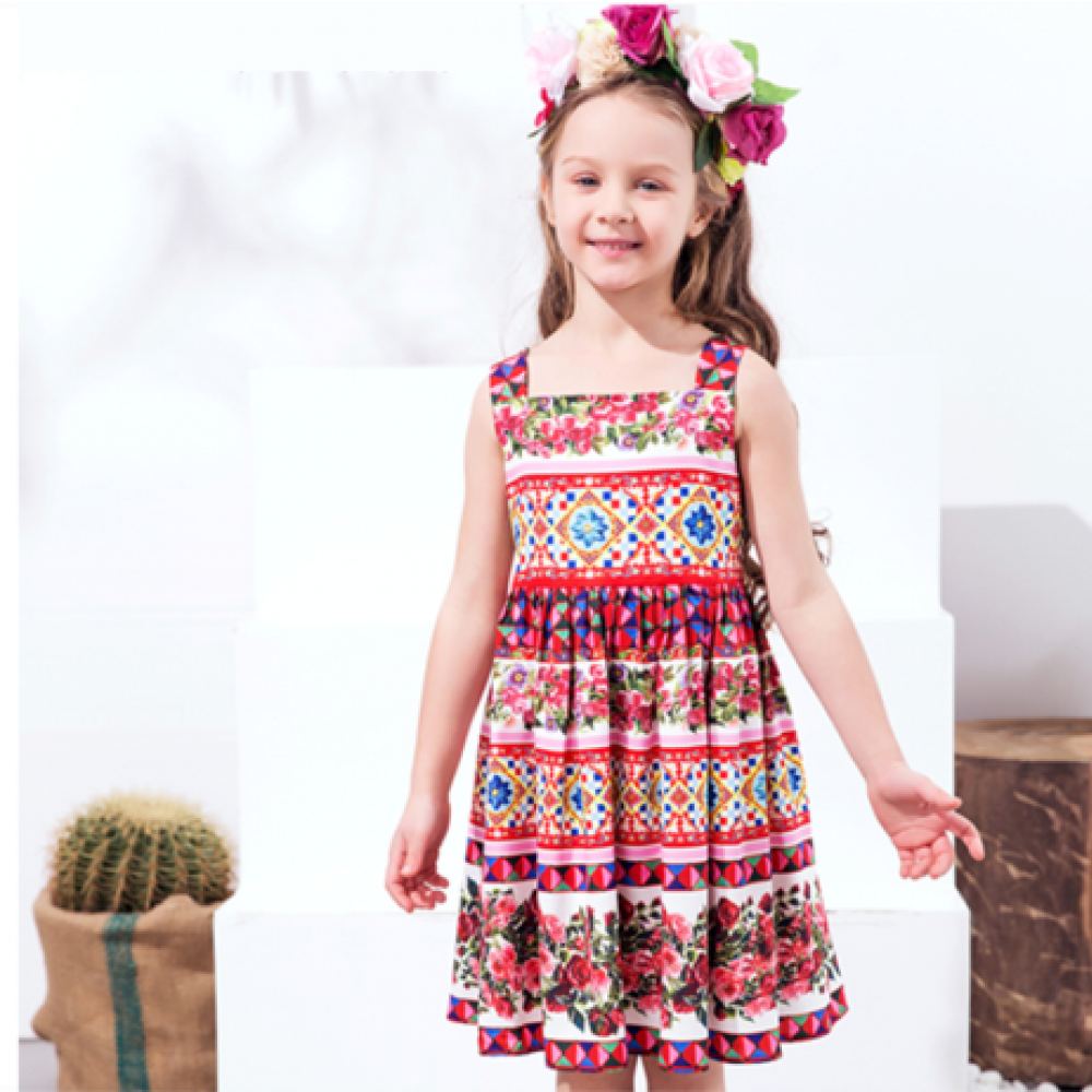 bb59867d1 Girls Summer Dress 2018 Brand Princess Costume for Kids Dresses ...