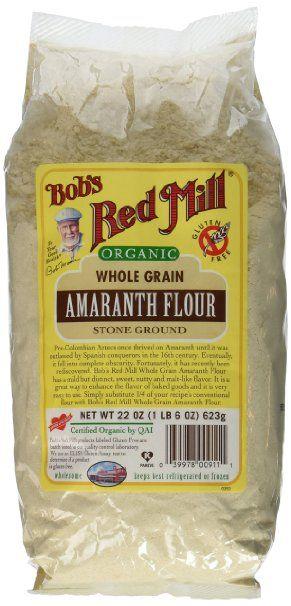Bob's Red Mill Flour, Amaranth, Organic, 22-Ounce