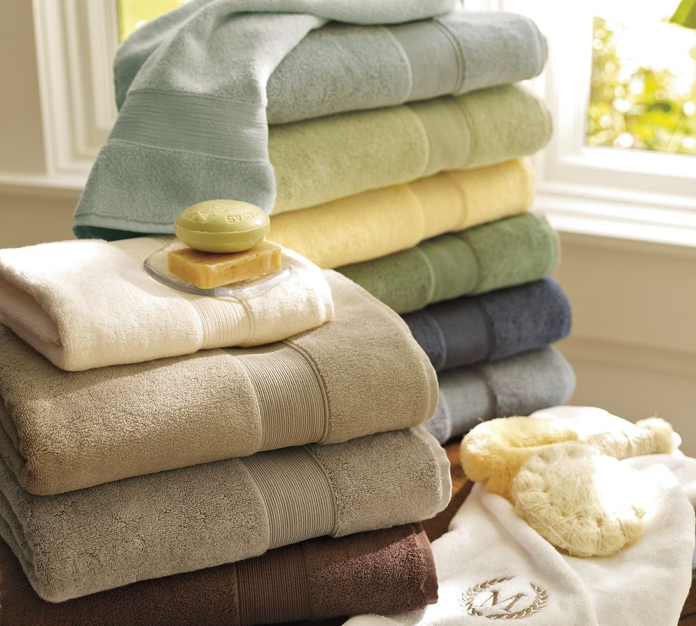 Pottery Barn Classic Towels Lots Of Colours Available Although I - Plush towels for small bathroom ideas