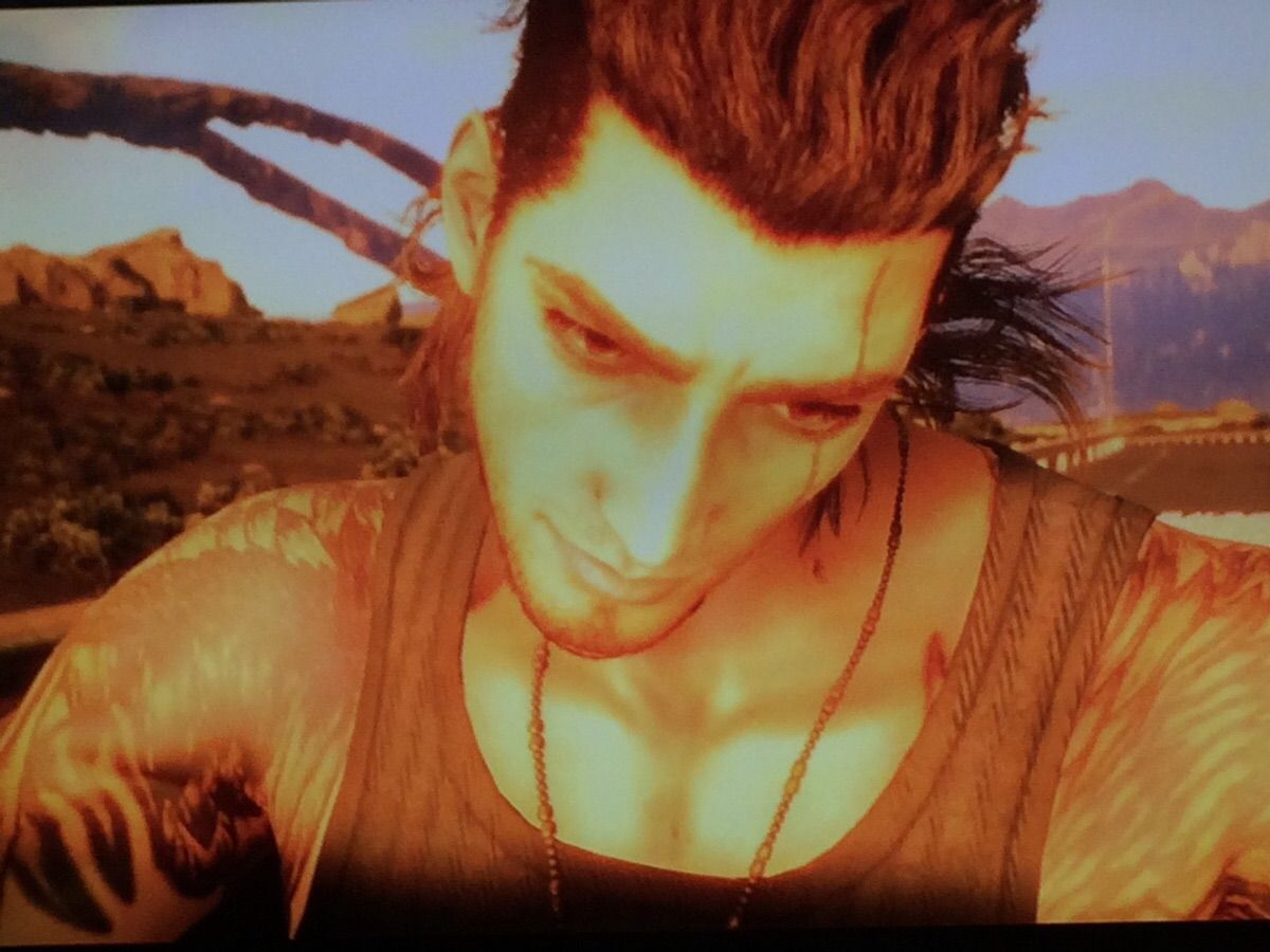 """Caught Gladiolus giving Noctis """"The Look"""""""