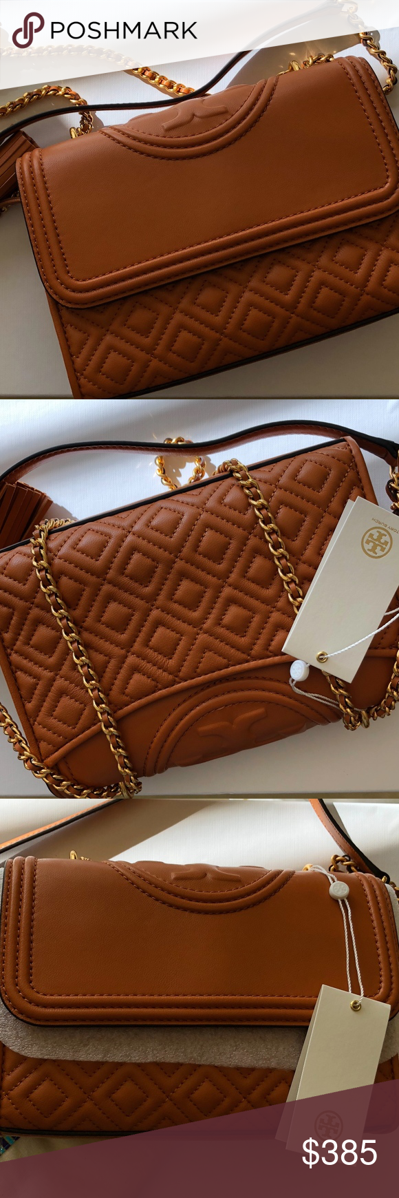 0227f7c10e Tory Burch Small Fleming Bag Light Masala NWT Tory Burch Fleming Bag- Light  Masala (beautiful camel color). Comes with Tag and Dustbag. Tory Burch Bags  ...