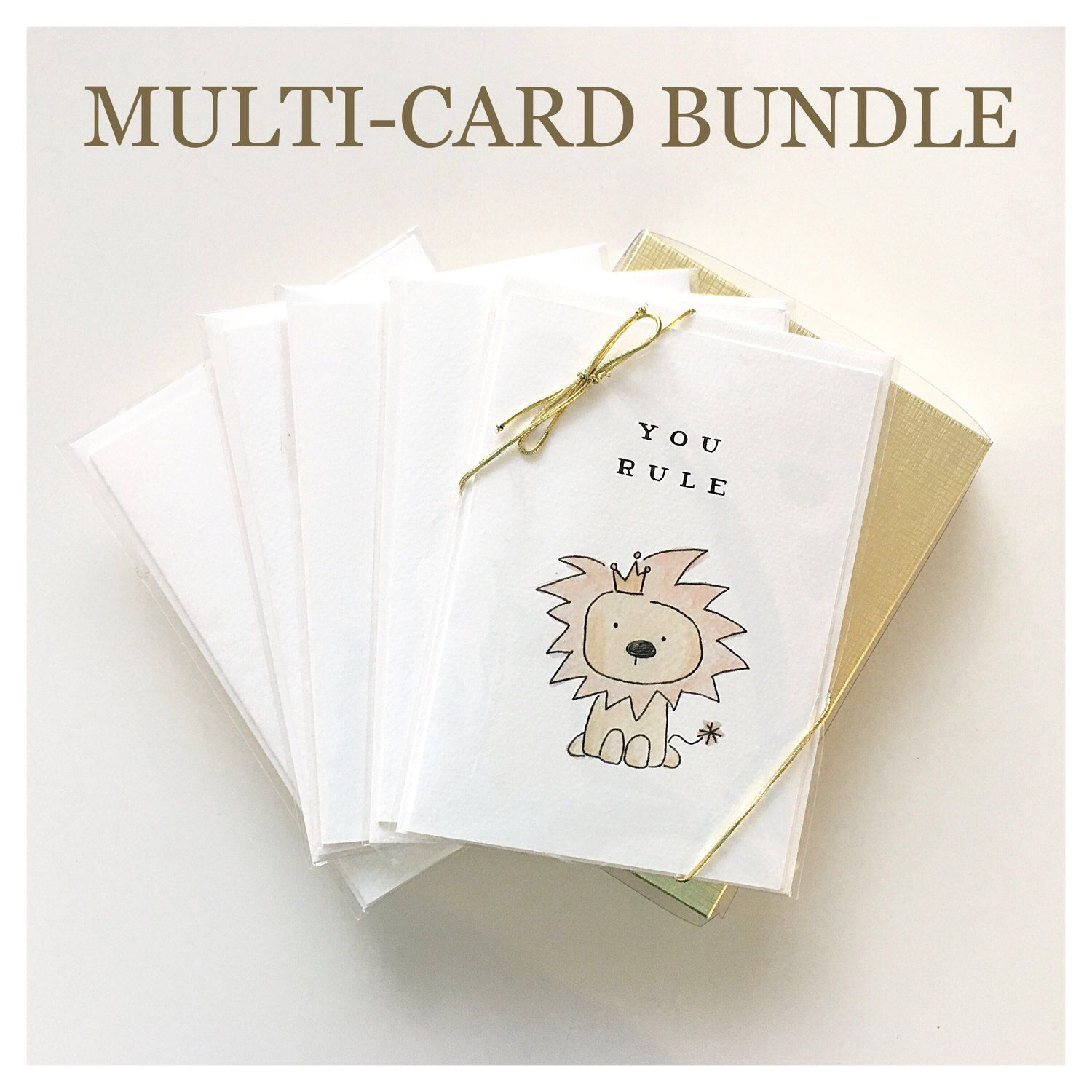 Box Of 5 Cards Greeting Cards Card Bundle Watercolour Card