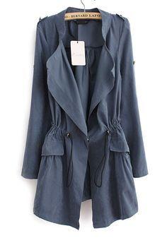8d73717cb177 Fashion Long Sleeve Cotton Women Trench Coat
