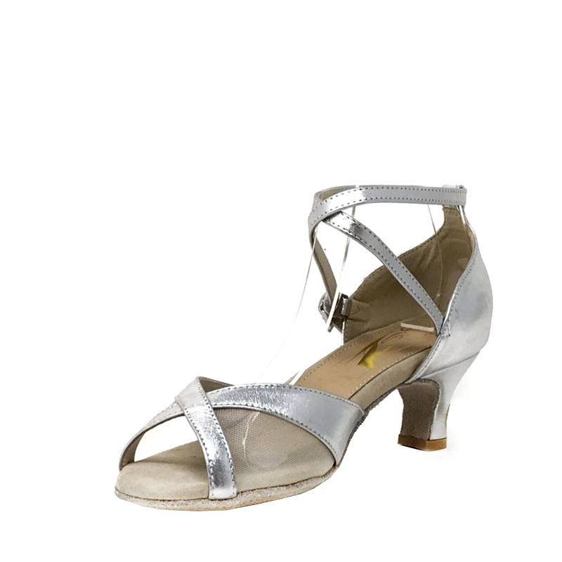 Lady Godiva CB Double Sole Point Leather/Mesh MultiSilver