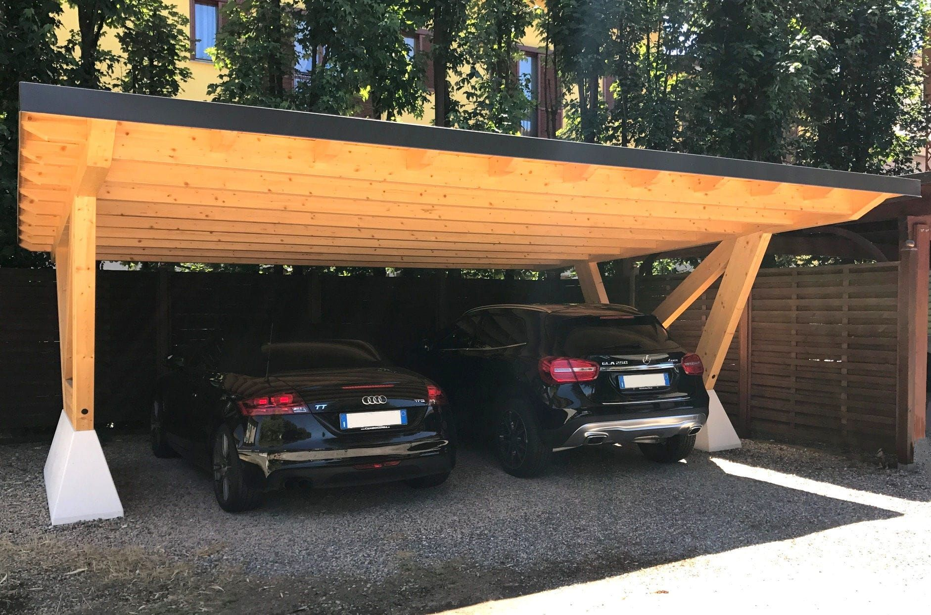 Wooden Carport Arco Proverbio Outdoor Design Wooden Carports Carport Designs Cantilever Carport