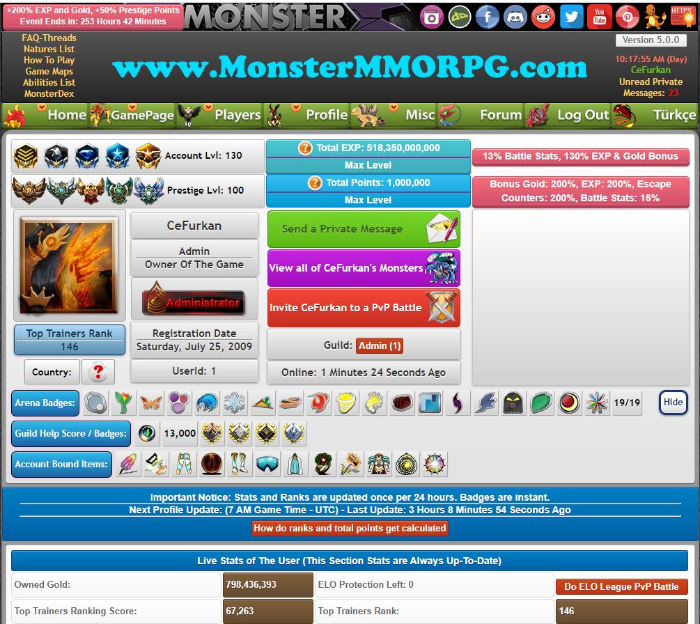 ️ Pokemon alike MMO RPG Game Monster MMORPG