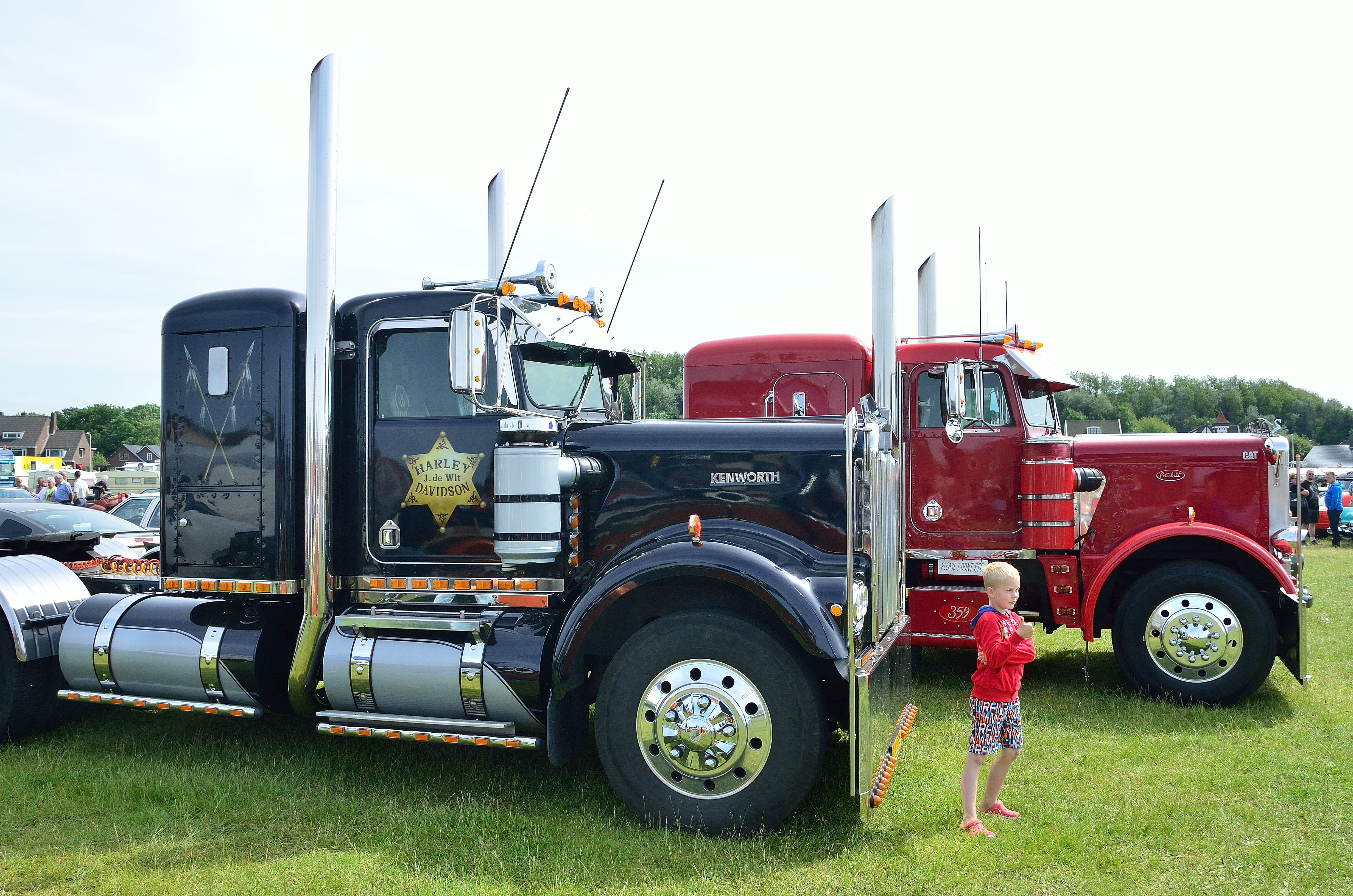 Kenworth and Peterbilt Trucks at Wijk aan Zee the Netherlands