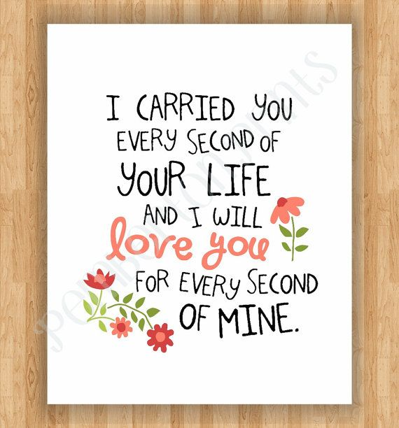 Stillborn Quotes 8X10 Remembrance Art Print  I Carried You Quote  Baby Girl Child