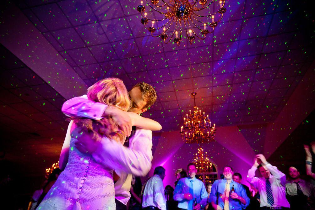 reception dance party lighting -- Brett Matthews Photography