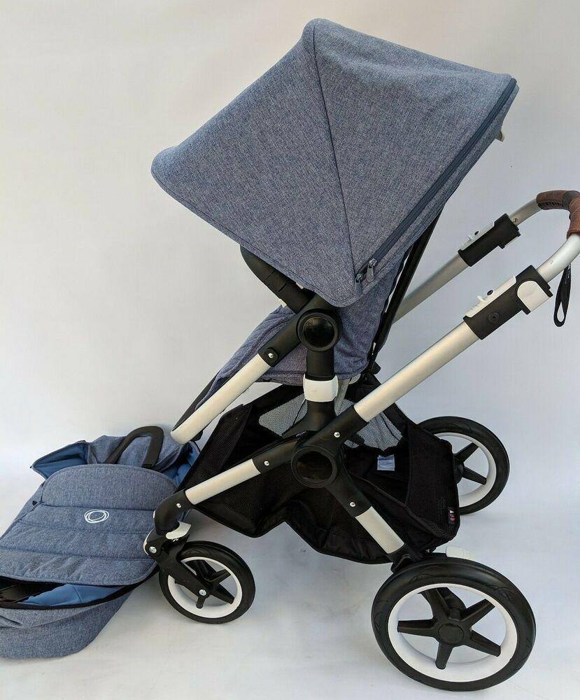 Bugaboo Fox Complete Stroller Aluminum Blue Melange