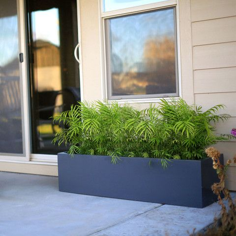Low Profile Planter Boxes 12 Tall Collection Long Planter Large Planters Outdoor Planters
