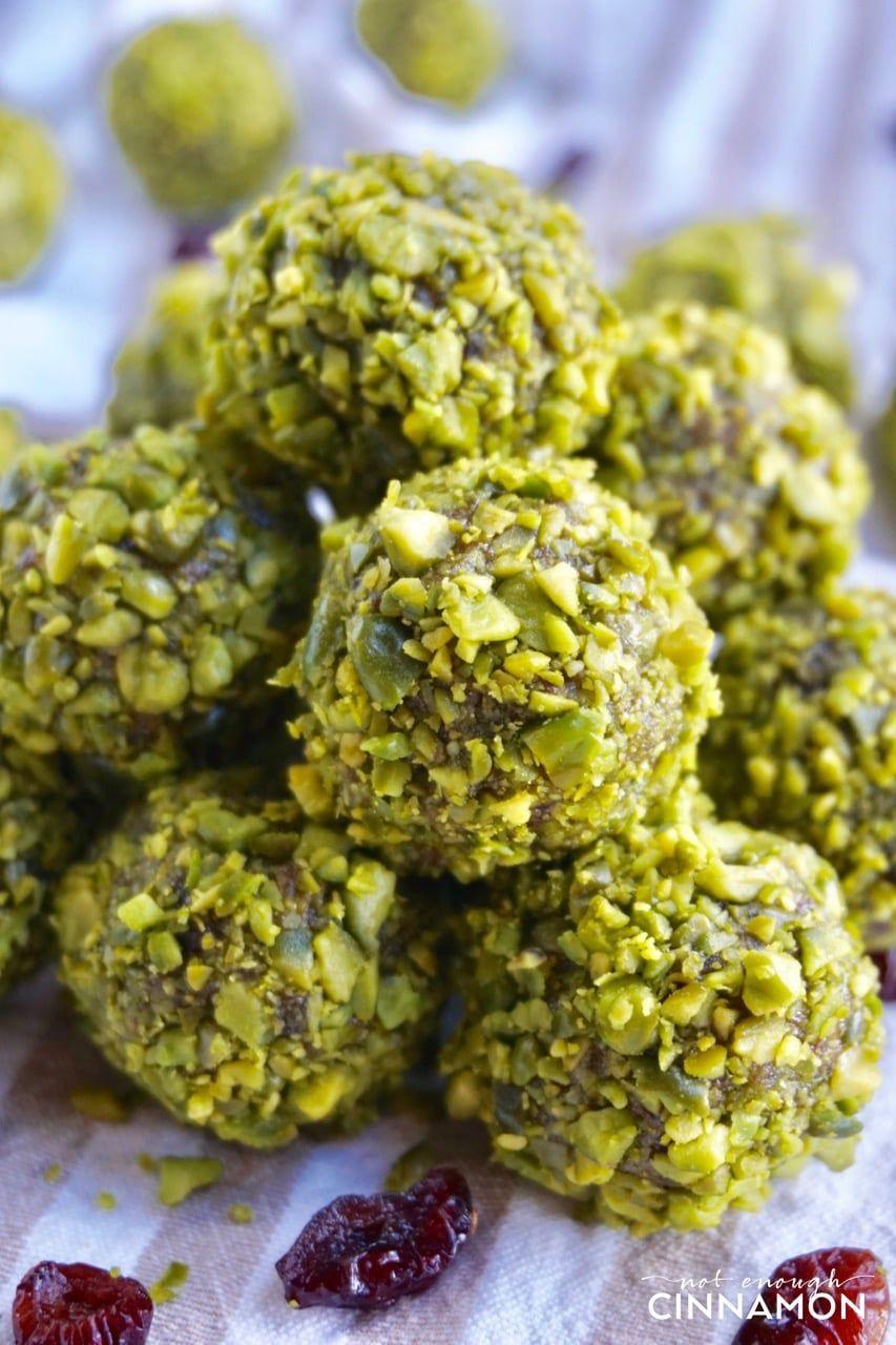 Pistachio And Cranberry Energy Bites Paleo Vegan Recipe
