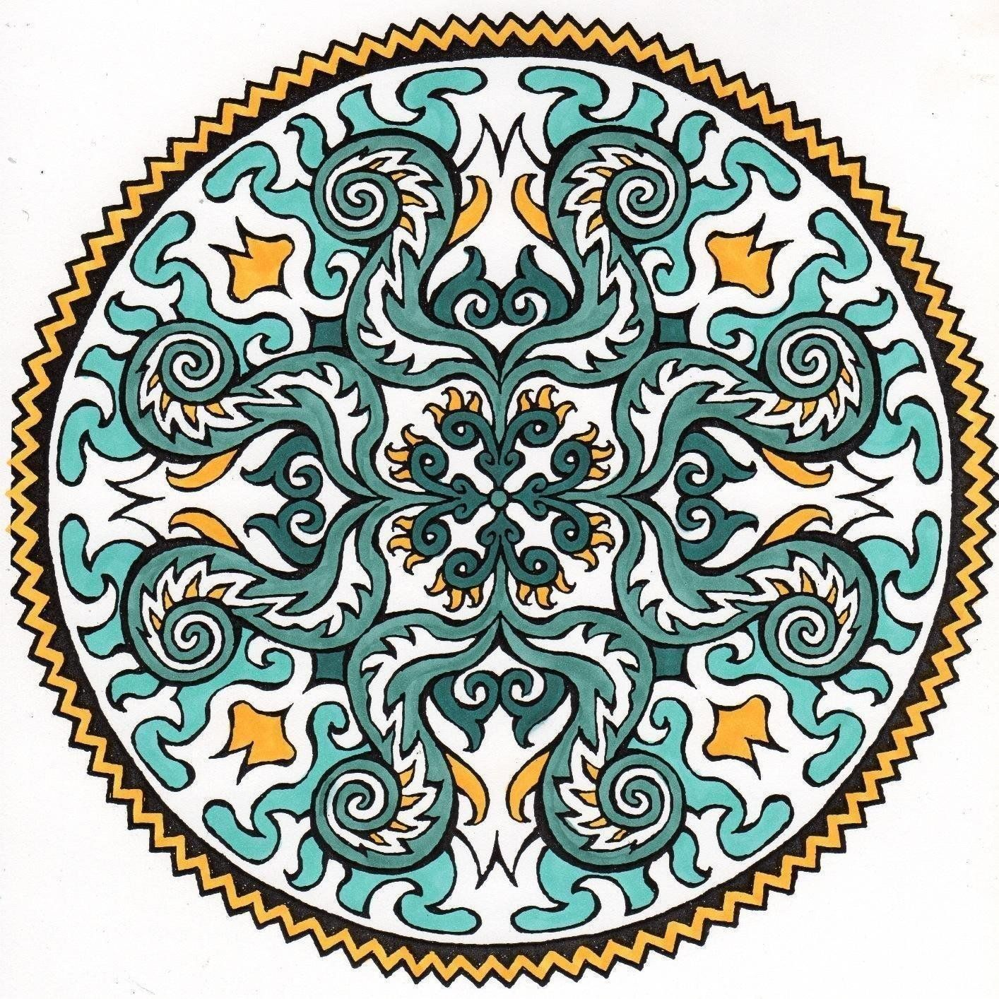 Mystical Mandala Coloring Book Dover Design Books   Coloring Pages