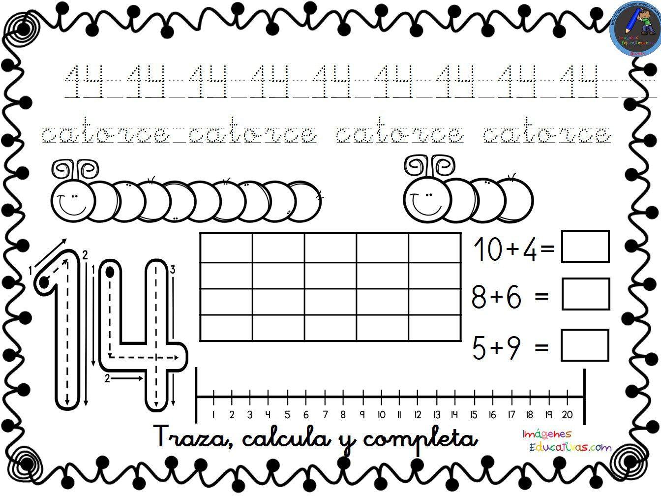 Imagenes Educativas Para Descargar: Fichas Para Trabajar Los Números Del 1 Al 30 Para