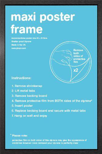 black maxi poster frame 61cm x 915cm httpcelebparse