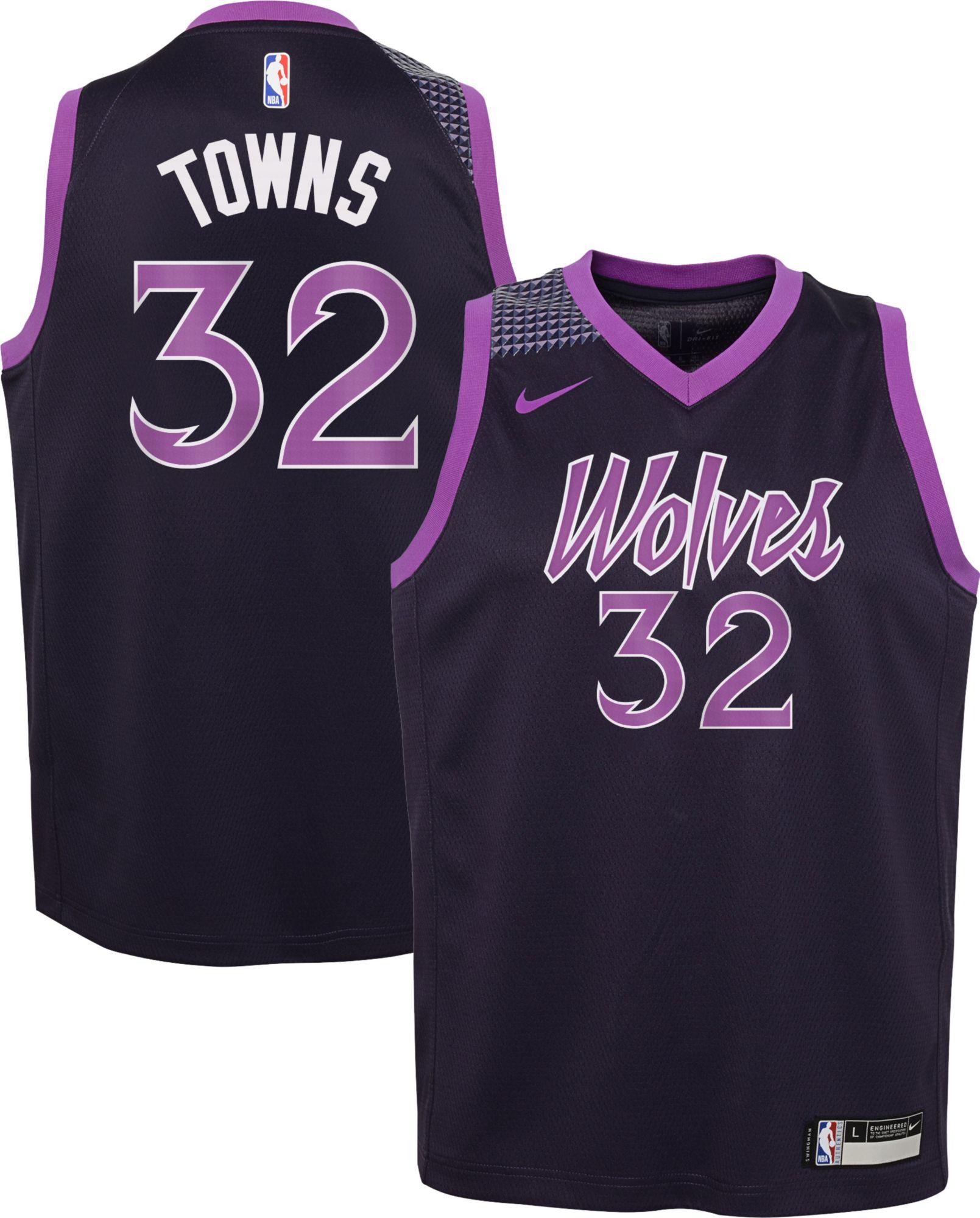 cheaper 4f849 c28da Nike Youth Minnesota Timberwolves Karl-Anthony Towns Dri-FIT ...