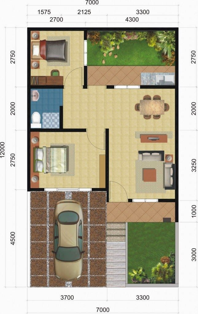 Denah Rumah Minimalis Type 36 1 Lantai Terbaru 2015 Tata Letak Rumah Denah Rumah Rumah Arsitektur