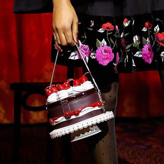 Black Forest Cake With Cherries On Top Bag At Kate Spade Fw17 Nyfw Cute
