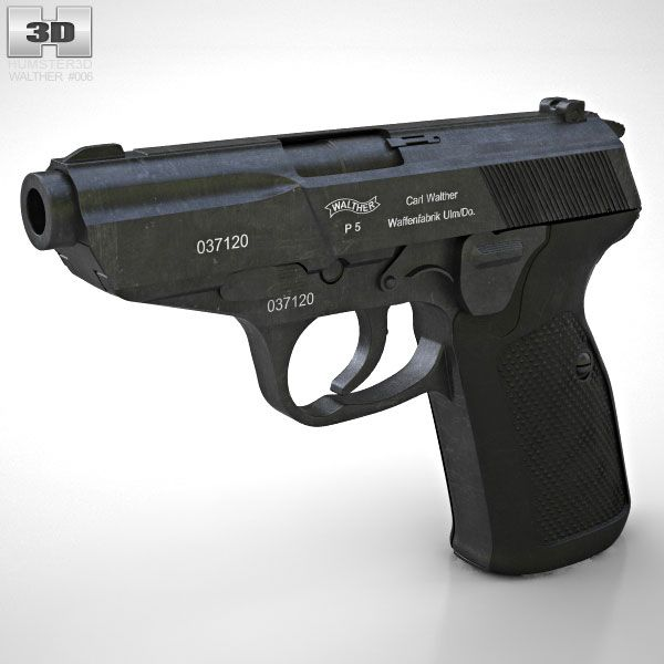 Walther P5 3d Model From Humster3d Com Weapon 3d Models