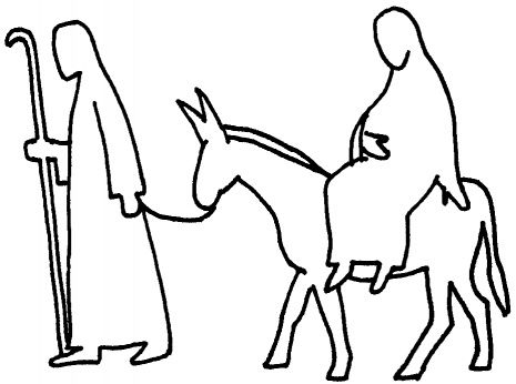 Advent Mary And Joseph And Donkey Coloring Page Advent Coloring