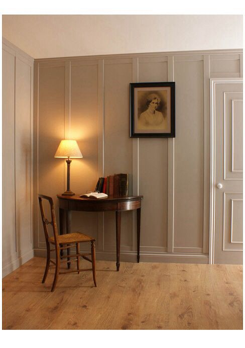 Wide Painted Vertical Panels Wainscoting Styles Wall Paneling Diy Wall Paneling