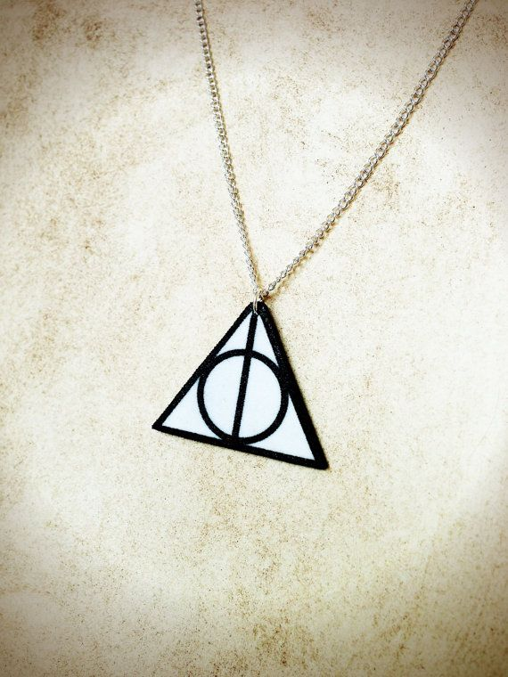 Deathly Hallows Triangle Circle Symbol Charm By Thetamerlane On Etsy